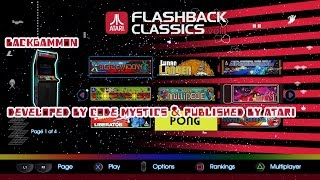 Atari Flashback Classics Vol 1 & Vol 2   Part 7 Backgammon