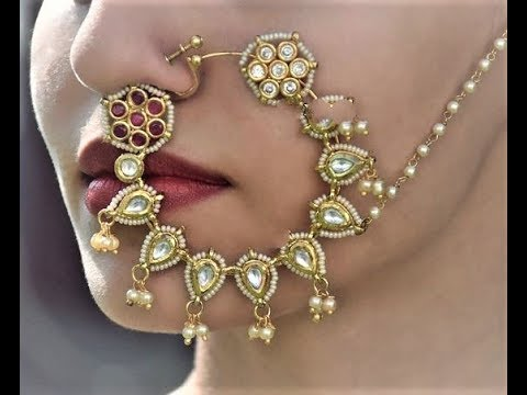 Latest Bridal Gold Nose Rings Collection|Stylish Nose Rings designs For Wedding|Latest Bridal Nath from YouTube · Duration:  3 minutes 24 seconds