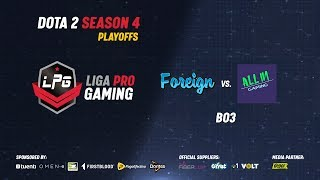 Foreign vs All in Gaming | Play offs LPG Season 4 | Iwo & Lucky