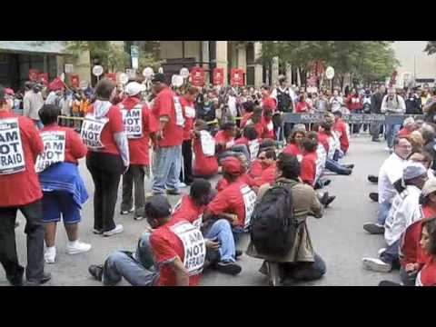 UNITE-HERE stages civil disobedience