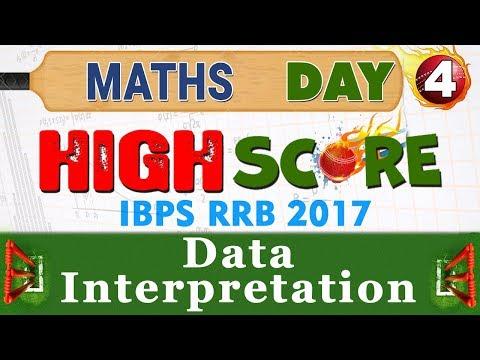 High Score | Data Interpretation | Day 4 | Maths | Latest Tricks | IBPS RRB 2017