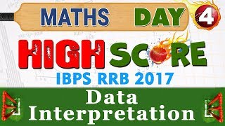 High Score | Data Interpretation | Day 4 | Maths | Latest Tricks | IBPS RRB 2017