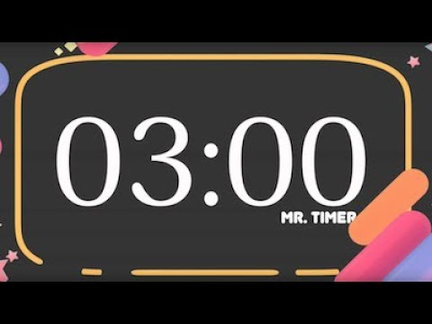 3 Minute Countdown Timer Alarm Clock! Timer for Kids 3 Minutes