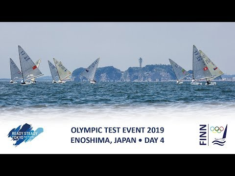 Highlights from the Finn class on Day 4 of Ready Steady Tokyo - the 2019 Olympic Test Event