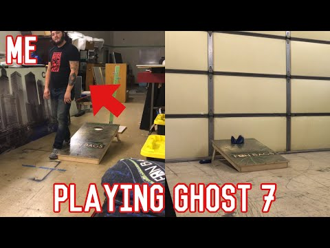 Henry Confidential Plays Ghost 7   Solo Cornhole Game