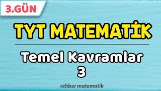 Temel Kavramlar 3  49 Günde TYT Matematik 3.Gün rmtayfa 2021tayfa