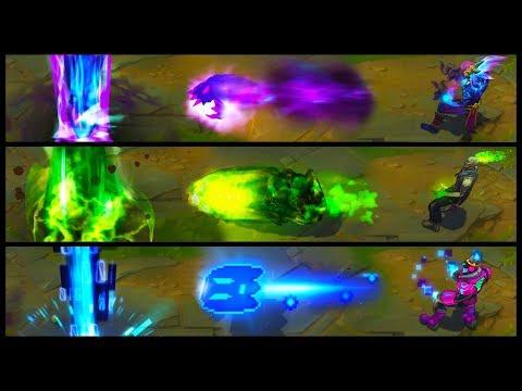 Zombie Brand vs Battle Boss vs Spirit Fire Legendary vs Epic Skins Comparison (League of Legends)