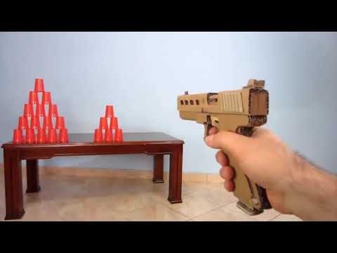 (Luar biasa) cara membuat pistol dengan kardus hampir mirip asli nya