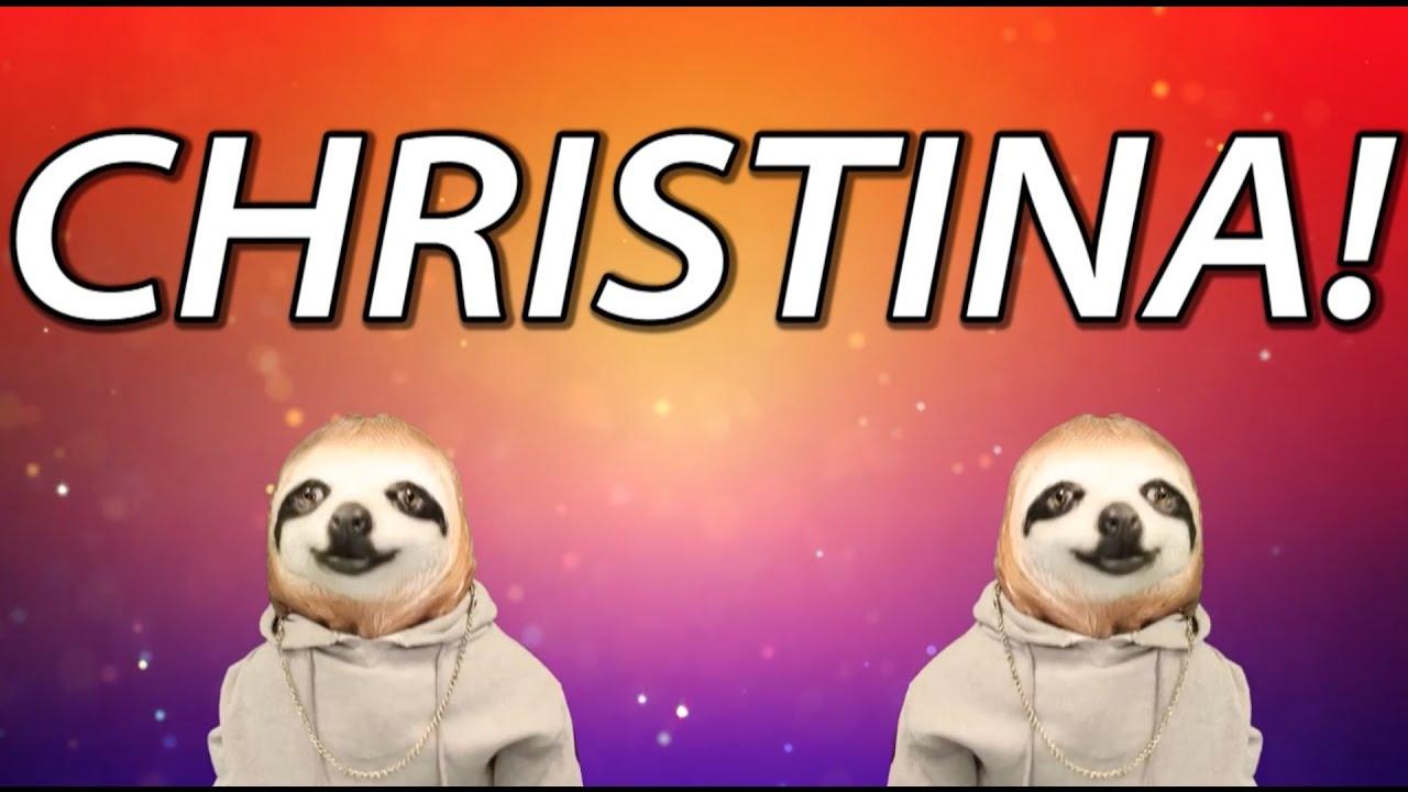 Happy Birthday Christina Sloth Happy Birthday Rap Youtube