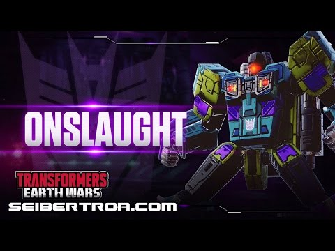 ONSLAUGHT Character Spotlight video and demo Transformers: Earth Wars