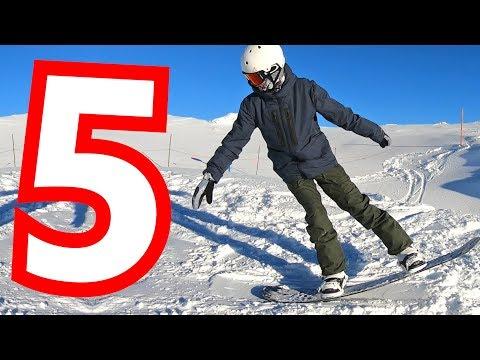 5 Beginner Snowboard Tricks on the Flat Ground