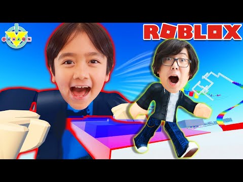 Ryan Creates His Own Obby! Let's play Roblox Obby Creator with Ryan's Daddy!