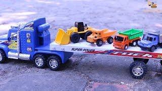 รถก่อสร้างขึ้นรถเทรลเลอร์ รถก่อสร้าง รถดั้ม รถแม็คโคร รถตักดิน รถบดดิน รถขุดดิน