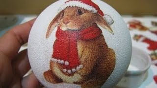 Декупаж новогодних шариков