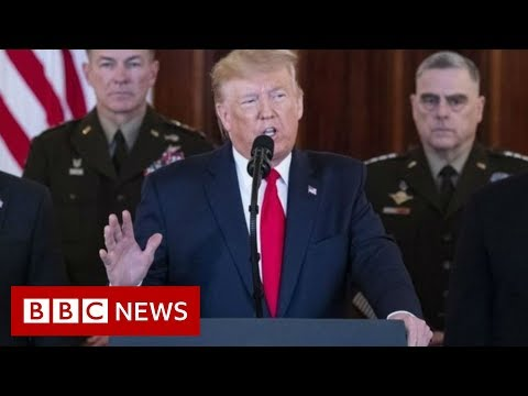 Trump: Iran 'standing down' after missile strikes - BBC News