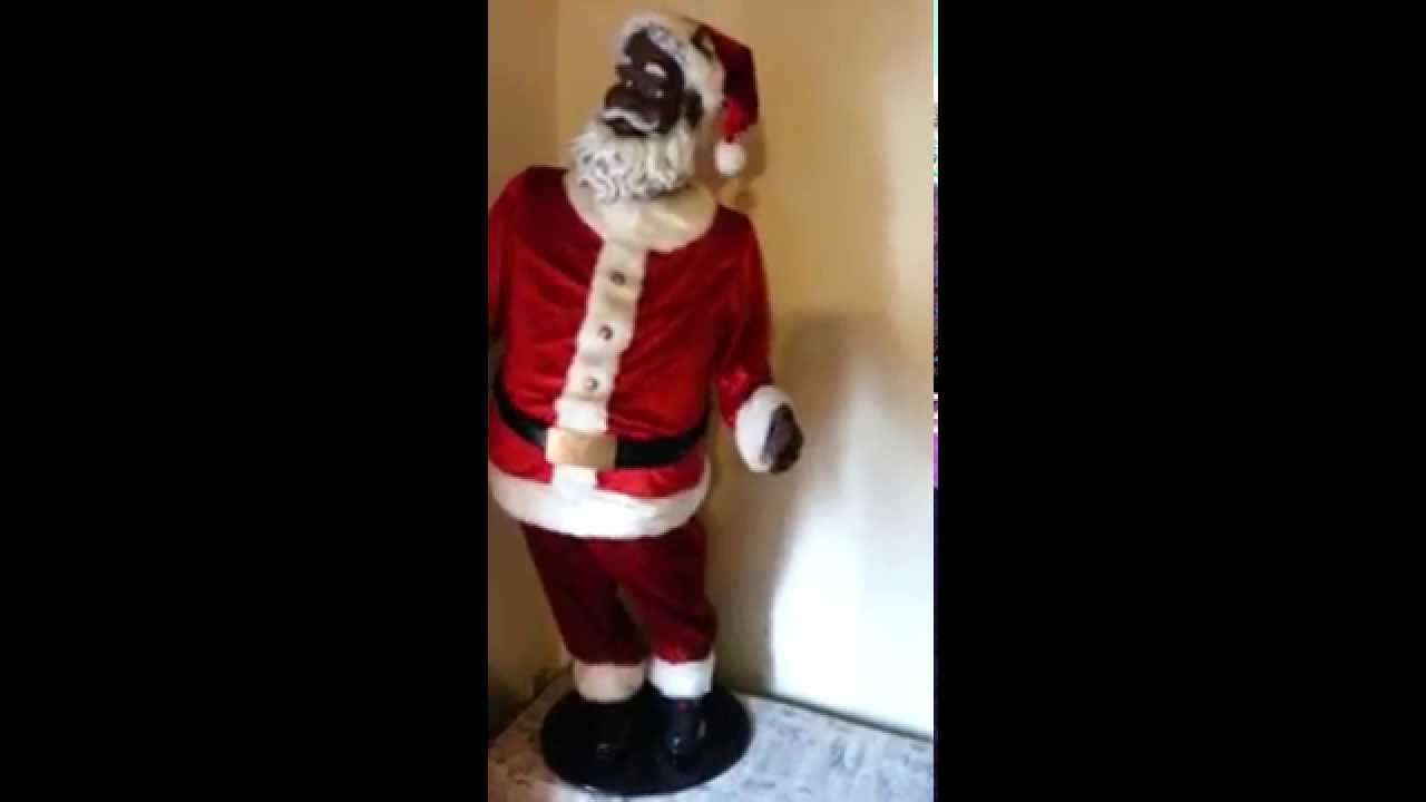 Life size Animated Santa Claus African American - YouTube 9270b33583d