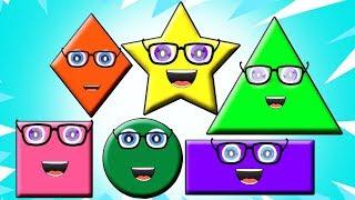 песня формы   выучить названия фигур   форма для детей   учебное видео   Shape Song