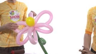 Цветы из шаров своими руками. Урок 6