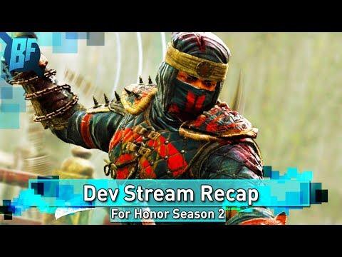 For Honor Season 2: Shinobi And Centurion Kicks Being Looked At | Dev Stream Recap