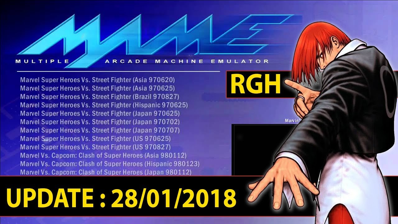 Emulador • MAME 0 72 Release 4 ( Update 28/01/2018) Para Xbox 360 RGH •  (nº1112)