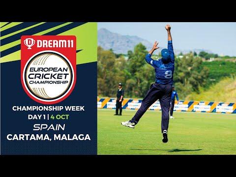 🔴 Dream11 European Cricket Championship | Championship Week Day 1 Cartama Oval Spain | Live Cricket