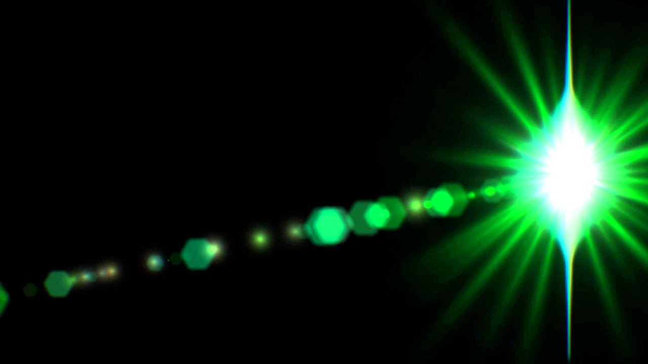 Lens Flare Green ANIMATION FREE FOOTAGE HD Black ...