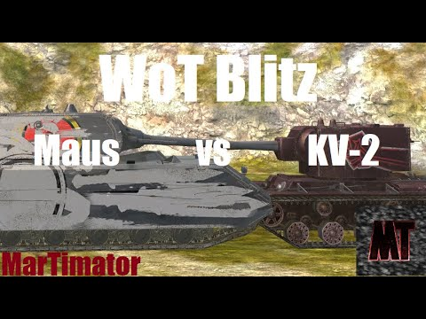 Maus Vs KV-2: Face The Derp #27 | WoT Blitz