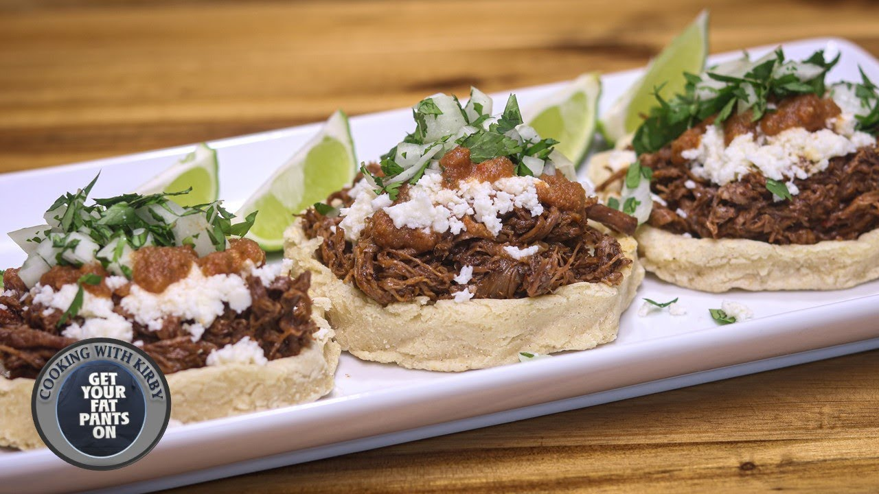 (139) Sopes de Res - Shredded Beef Sopes - Instant Pot Recipes - YouTube