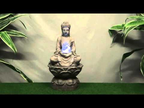 Medium Buddha Crystal Ball - Resin Water Feature