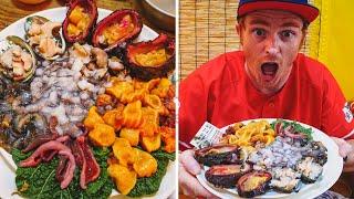 Trying EXOTIC KOREAN SEAFOOD in Busan   Eating Squirming RAW OCTOPUS in Korea