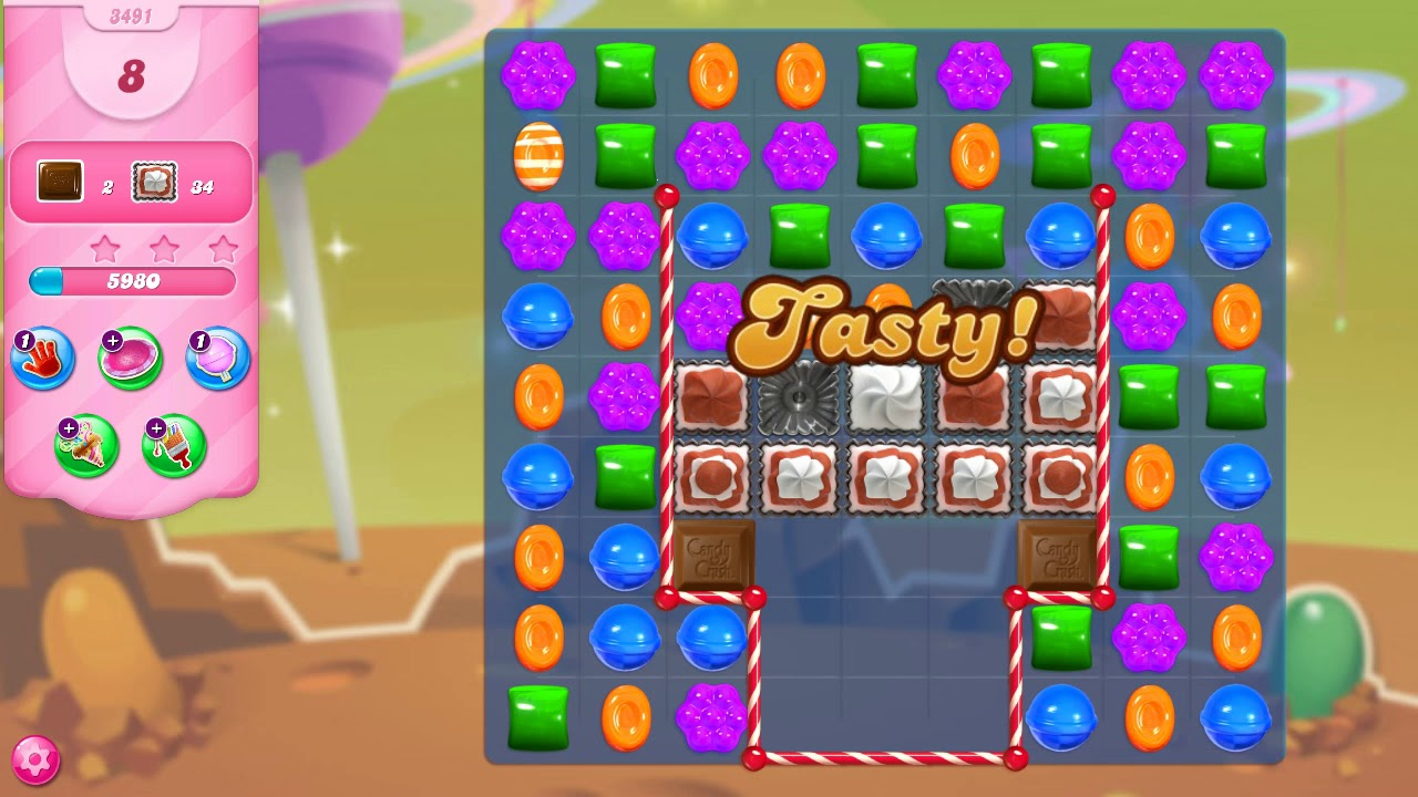 Download Candy Crush Saga Level 3491 NO BOOSTERS (16 moves)