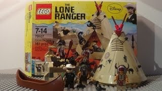 New! Lego The Lone Ranger 79107 Review: Comanche Camp