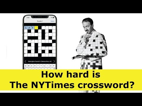 How hard is The New York Times crossword?