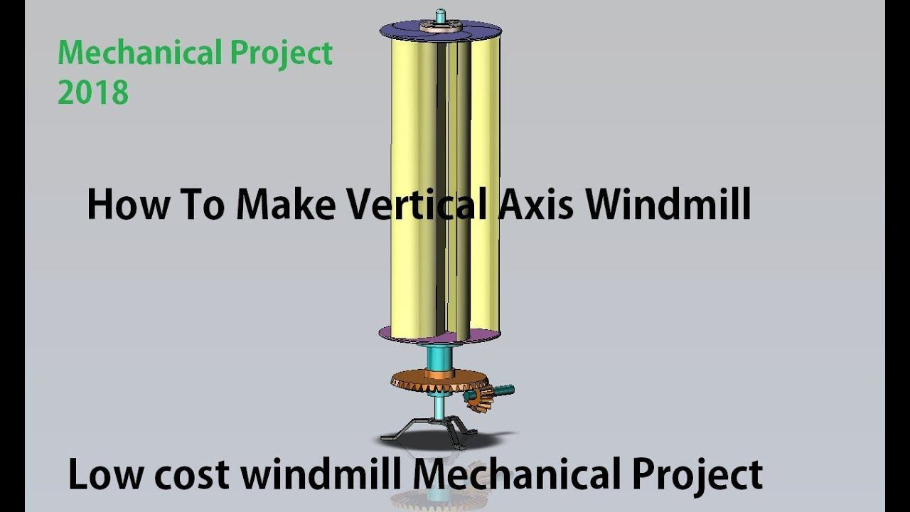 Design and Fabrication Of Vertical Axis Wind mill | MECHANICAL PROJECT