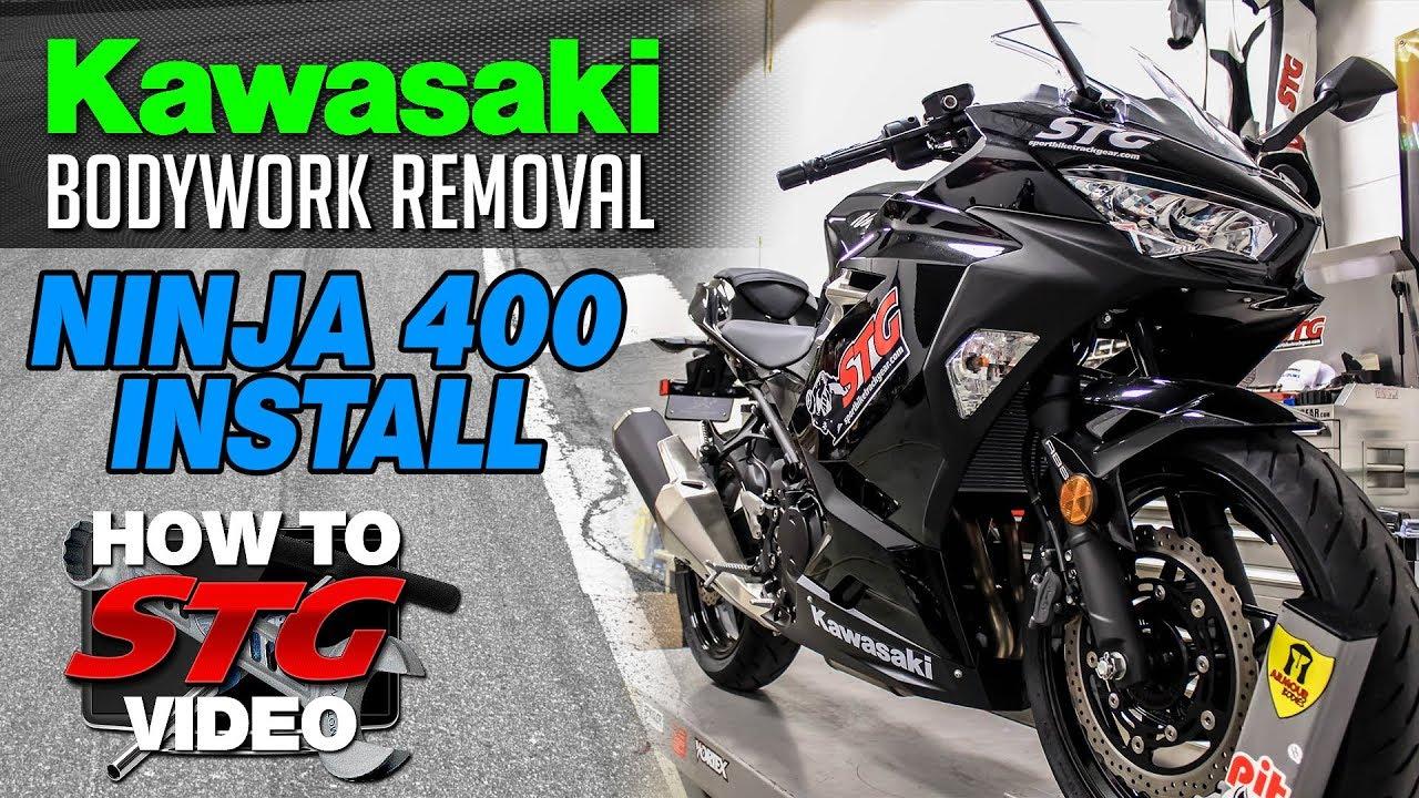 2018 Kawasaki Ninja 400 Bodywork Removal Tutorial | Sportbiketrackgear com