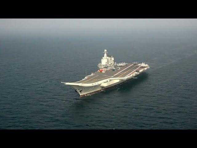 China's Aircraft Carrier 'Shandong' Conducting Sea Trials in Yellow Sea