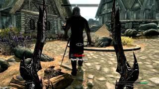 Skyrim- Dual-Wielded Daedric Sword Rampage