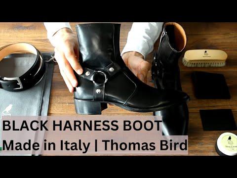 Harness Boot - Black - Made In Italy   Thomas Bird