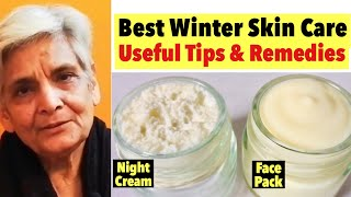 Best Winter Skin Care | Tips & Remedies | HomeMade Hydrating Night Cream & Face Pack For Winters