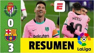 Valladolid 0-3 Barcelona. GOL de Lionel Messi, quien llegó a 644 y rompió el récord de Pelé | LaLiga