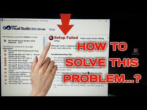 visual studio 2010 setup failed (2017 new)