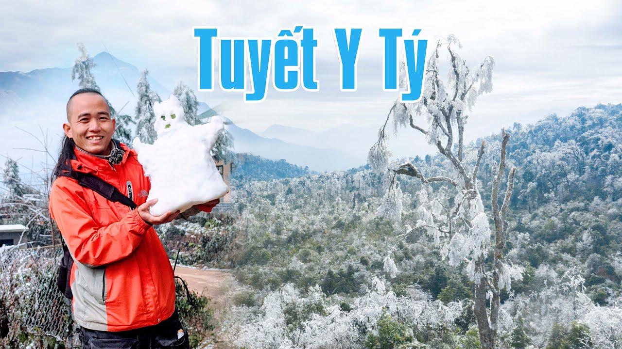 Cả bản làng ngập trắng trong tuyết - Cảnh đẹp hiếm có tại Y Tý, Bát Xát, Lào Cai
