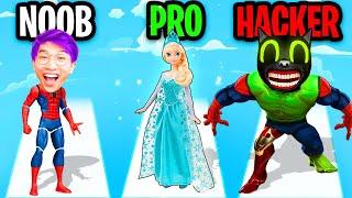 NOOB vs PRO vs HACKER In DOLL DESIGNER! (ALL LEVELS!) screenshot 4