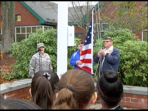 Wamsutta Middle School Students Honor Veterans Day