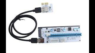 Riser 008S Как подключить много видеокарт к ПК для майнинга? Risercard for mining crypto btc eth!