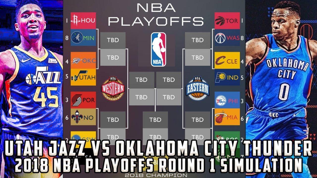 9d2fbd347 OKC Thunder vs Utah Jazz! 2018 NBA Playoffs Round 1 Simulation - YouTube