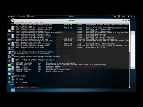 Exploit postgresql con metasploit - kali linux