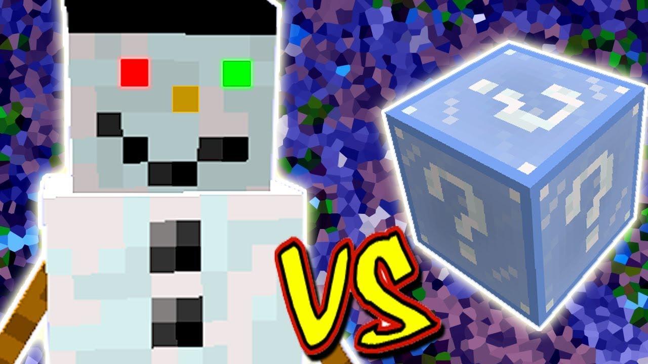 Frosty Boneco De Neve Vs Lucky Block Frosty Minecraft Lucky