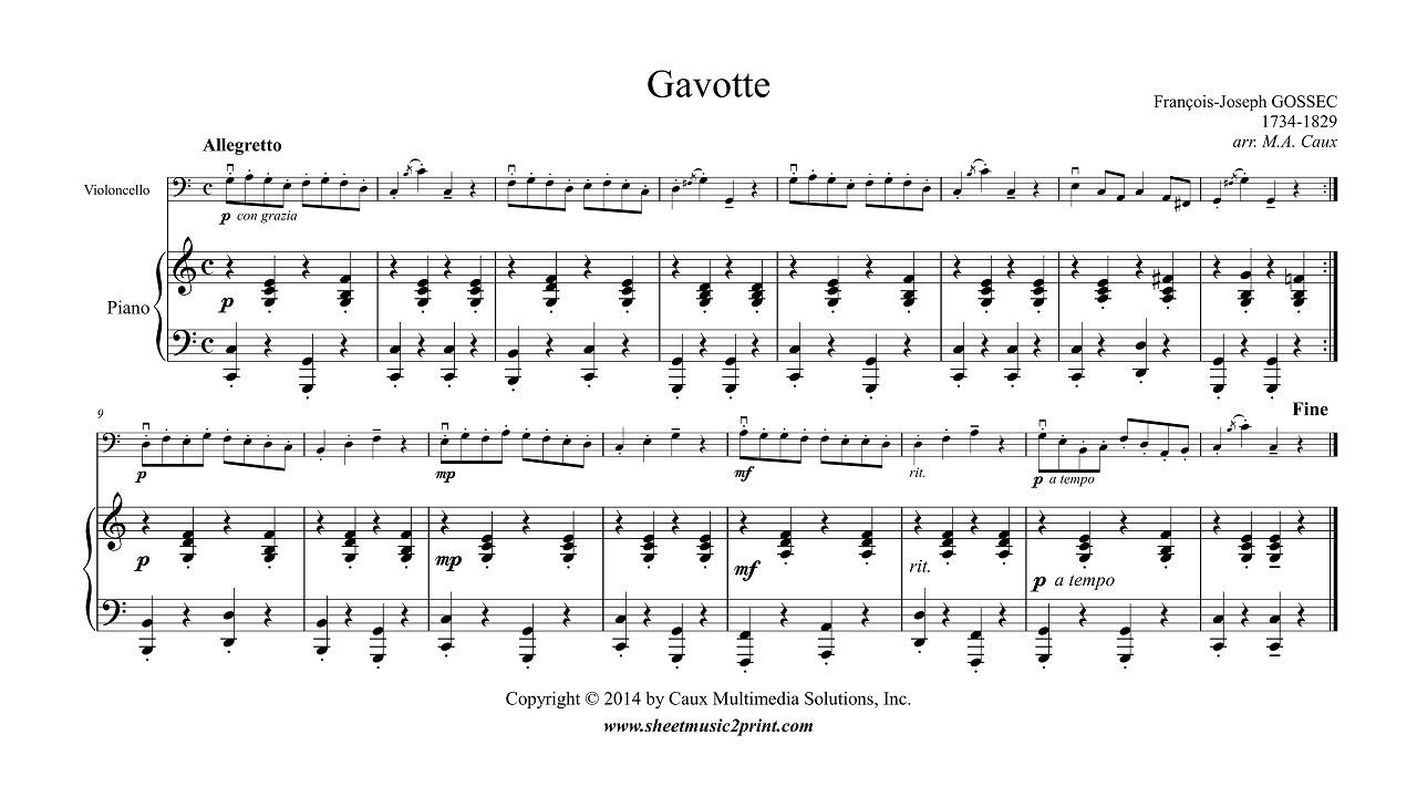 Gavotte (Cello Part)