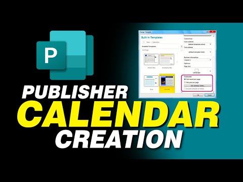 Вопрос: Как создать календарь в Microsoft Publisher?